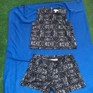 Kenar top and short set